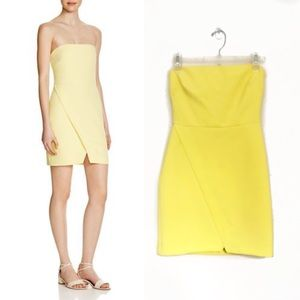 Likely | Hetty Strapless Dress in Yellow | 0